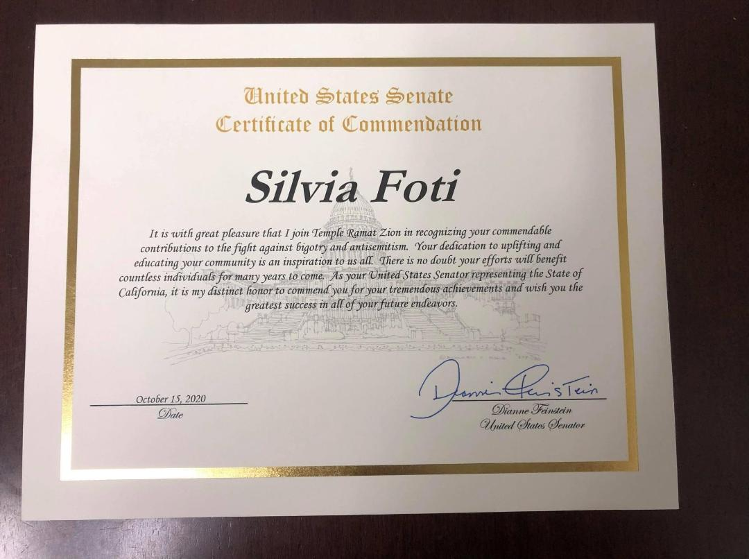 US Senate Diane Feinstein
